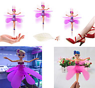 USB Rechargeable Xmas Gift Flying Fairy Doll Infrared Induction Control dolls Fly Toy(Random Color)