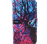 Pink Tree Pattern PU Leather Full Body Cover with Stand for Sony Xperia Z5 Compact