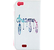 Feather Pattern Flip Card Leather Phone Case for Wiko LENNY