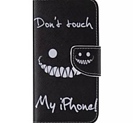 Black Smiling Face Painted PU Phone Case for Galaxy S6edge Plus/S6edge/S6/S5/S5mini/S4/S4mini/S3/S3mini