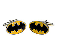 Men's Cufflinks Oval Bat Pattern