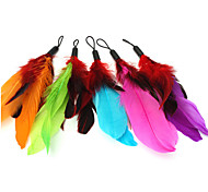 Cat Pet Toys Teaser / Feather Toy Candy Multicolor Textile
