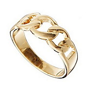 Alloy Fashion Unisex Chain Hollow Out Ring