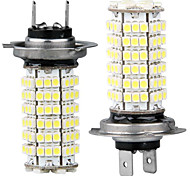 2 Car H7 3528 SMD 120 LED White Bulbs Fog Lamp Light