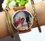 Vintage style Skull Men's Watch,Ladies Rose Watch ,Men's Watch,QuartzWrist Watch,Gift Idea