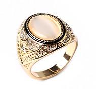 Silver Opal Diamond Ring for Men