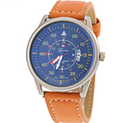 Men's Racing Sport Design PU Band Quartz Watch Wrist Watch Cool Watch Unique Watch