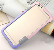 Walnutt Series Fashion Two-Color Multi color Ultra Slim Plastic TPU Material Combination Bumper Frame For iPhone 6/6S