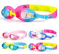 плавательные очки Противо-туманное покрытие Водонепроницаемость Силикагель Акрил синий розовый Прозрачные Светло-синий