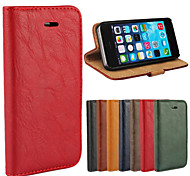 Luxury PU Leather Flip Case  Phone Cover Cases With Wallet For Apple iphone 5/5S (Assorted Colors)