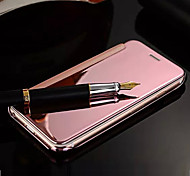 Deluxe Flip Mirror PU Leather PC Mobile Phone Cover Case for iPhone 5/5s(Assorted Colors)