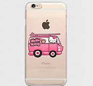 iFashion® Pink Girl Bus Pattern Matte Hard PC Case for iPhone 6/6s