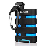 EasyAcc 9000mAh Powerbank Waterproof Dustproof Shockproof External battery charger with Compass Carabiner and Flashlight