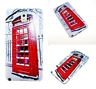 Red Phone Booth Personalized Painting TPU Mobile Phone Shell Samsung Note3 / Note4 / Note 5 / Note 5 edge