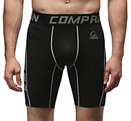 Running Bottoms Men's Breathable Running Sports Black Solid S / M / L / XL