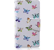 Butterfly Flying Painted PU Phone Case for Sony Xperia M2/M4