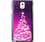 Navidad patrón de árbol de pc caso duro para Samsung Galaxy Note 3