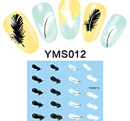 4PCS Cartoon Watermark Nail Art Stickers YMS09-12