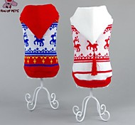 Cat / Dog Coat / Sweater Red / White Winter Embroidered Wedding / Cosplay / Christmas / Holiday / New Year's