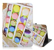 patrón de dulces de alta calidad de cuero de la PU con el caso del soporte para la tableta universal de 10 pulgadas