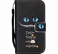 schwarze Katze-Muster PU-Leder Material Flip-Karte für Samsung-Galaxie grand prime / Kern prime