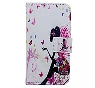 Butterfly Girl Painted PU Phone Case for Huawei Honor 7