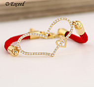 D Exceed Women Hot Infinity Bracelets for Ladies Nylon Rope Cord Bracelet with Love Charms Bracelets Free Shipping