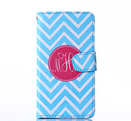 Blue and White Anchor Pattern PU Leather Full Body Case with Stand for HTC One A9