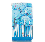 Forest Pattern PU Leather Painted Phone Case For GALAXY S3/ S4 / S5 / S6 / S6edge / S3 Mini / S4 Mini / S5 Mini