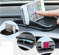 VORMOR®Universal In-Car Holder Mount Silicone Car Cellphone Stand Pad for iPhone (Black)
