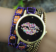 Women's European Style Fashion Color Lip Wrist Watch Bracelet Watch Cool Watches Unique Watches