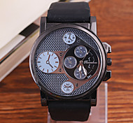 Men's Watch Selling Korean High-Grade Metal Large Dial Silicone Quartz Watch