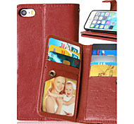 Multicolor PU Leather 9 Card Phone Holster For  iPhone 5/5S (Assorted Colors)