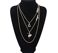 Fashion Multi-layer Dancing Girl Crystal Necklace Sweater Chain Wedding Jewelry
