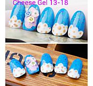 1pcs queso de uñas de gel polaco ULTRAVIOLETA del gel de 24 colores 12 ml de gel de uñas de larga duración polaco 13-18