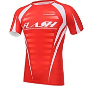 Unisex Cycling Tops Short Sleeve Bike Spring / Summer / Autumn Breathable / Ultraviolet Resistant / Sweat-wicking Red