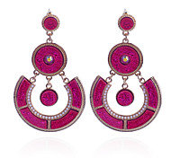 Fashion  Drill Resin Roundness Beads Alloy Earring