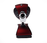 Computer camera with Lamp + Microphone+ Taking pictures, Clip-on Base Red