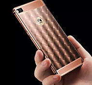 New Luxury Edition Quilted Chain Metal Frame Metal Back Phone Case for Huawei P8 (Assorted Colors)