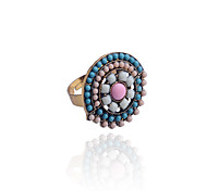 Bohemian Flower Type Beads Ring
