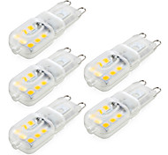 YWXLight® 5 pcs Dimmable 4W G9 LED Bi-pin Lights T 14 SMD 2835 300-400 lm Warm White / Cool White (AC 220V / AC 110V)