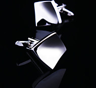Fashion Copper Men Jewelry Silver and Gold Square Rhombus Delicate Button Cufflinks(1Pair)