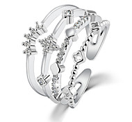 Contracted Fashion Crown Crystal Ring