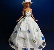 Movie & TV Theme Costumes Dresses For Barbie Doll White Dresses