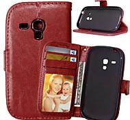 lederen kaarthouder portemonnee staan flip cover met fotolijst case voor Samsung Galaxy S3 mini / mini s4 / s5 mini / s6 actief