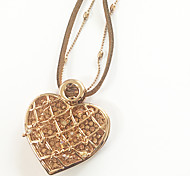 Eruner®Double Layer Loving Heart Annulus Necklace