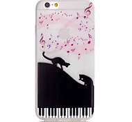 For iPhone 5 Case Glow in the Dark / Pattern Case Back Cover Case Cat Soft TPU iPhone SE/5s/5