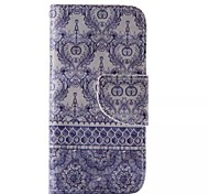 Blue Flower Painted PU Phone Case for iphone5C