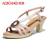 Aokang Women's Kitten Heel Sandals