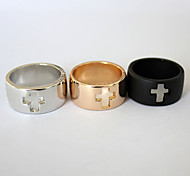 Punk Hollow Out  Cross Alloy Ring